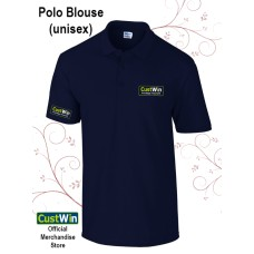 CUSTWIN POLO BLOUSE BLUE NAVY (UNISEX)